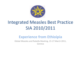 Experience in Ethiopia in conducting best practices measles campaign
