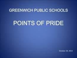 Points of Pride, GHS, Slideshow