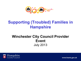 Supporting Troubled Families in Hampshire