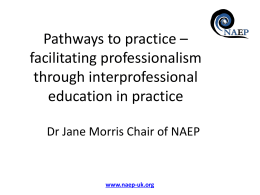 Jane Morris, Chair of NAEP