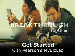 MyBizLab Getting Started