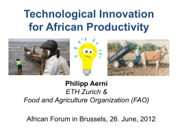 1. Aid, Trade and Business in African Agriculture