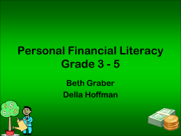 Personal Financial Literacy Grade 3