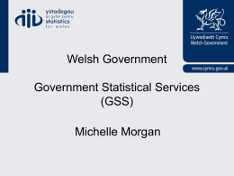 Government statistical Service – Wales