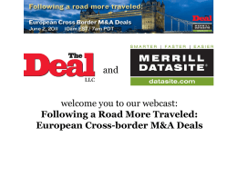 European Cross-border M&A Deals