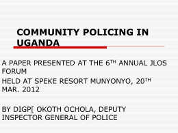 community policing in uganda