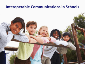 Interoperable Communications in Schools Guy Grace Patrick Hobby