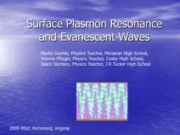 Surface Plasmon Resonance and Evanescent Waves copy