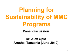 Sustainability of MMC Programs