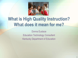 What is High Quality Instruction