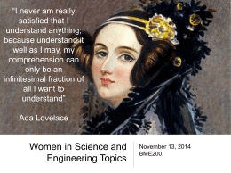 Slides for Lauren`s 2014 talk.