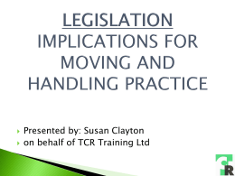 implications for moving and handling practice