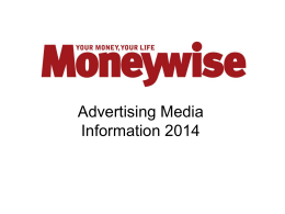 Why Advertise with Moneywise?