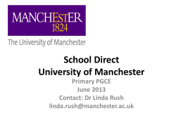 MSA Schoo Direct Presentation Manchester University Primary 11