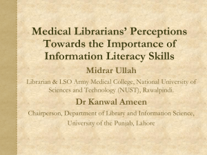 Information Literacy Defined - Pakistan Library Association