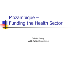 Financing modalities for health in Mozambique
