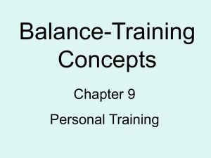 PT Ch. 9 Balance-Training Concepts