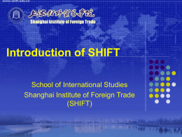 Introduction of SHIFT