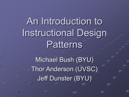 Instructional Design Pattern Origins - ARCLITE Lab
