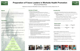 Preparation of Future Leaders in Worksite Health Promotion