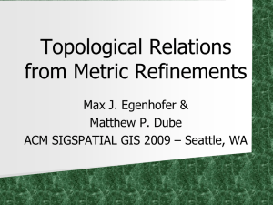 Topological Relations from Metric Refinements