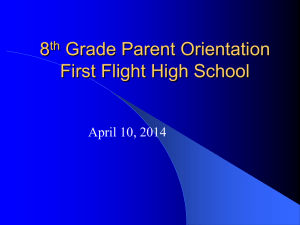 8th Grade Parent Orientation 2014