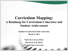 A Roadmap for Curriculum Coherence and Student Achievement