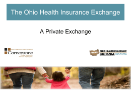 The Ohio Health Insurance Exchange a division of Cornerstone
