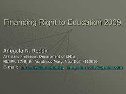 Right to Education 2009: Indicators for Monitoring the Implementation
