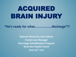 Acquired Brain Injury Powerpoint