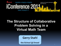 ppt slides - Gerry Stahl