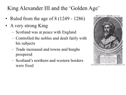 King Alexander III and the `Golden Age`