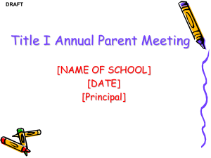 Title I Annual Meeting (PowerPoint Template)