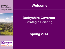 Welcome  - Derbyshire County Council