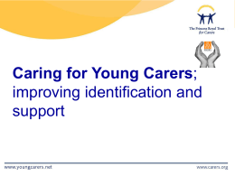 A young carer is