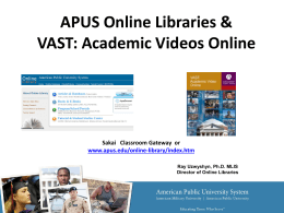 Interdisciplinary Academic Video: Streaming in an