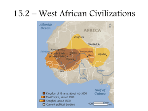 15.2 – West African Civilizations