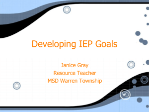 Developing IEP Goals