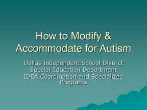How to Modify & Accommodate for Autism