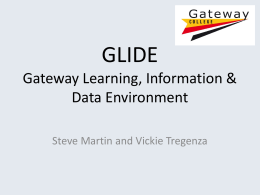 GLIDE Gateway Learning, Information & Data Environment