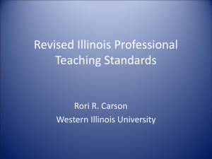 Revised Illinois Professional Teaching Standards