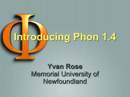 Intro-Phon 1 - CHILDES - Carnegie Mellon University