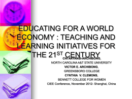 Education for a Global Economy