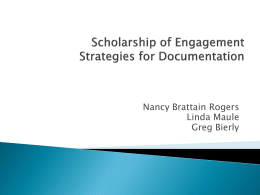 ISU Scholarship of Engagement PPT
