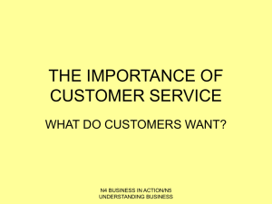1. Why is good customer service important?