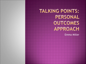 Talking Points: personal outcomes approach