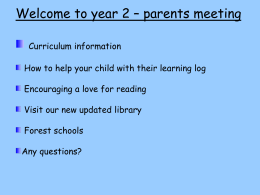 Yr 2 Parents Meeting Powerpoint presentation