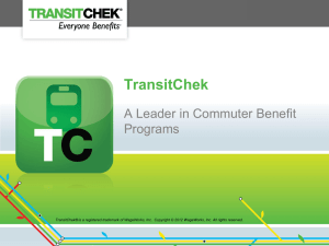 TransitChek - Choice Strategies