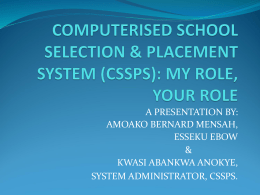 CSSPS_winneba new