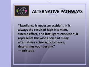 Alternative Pathways PP - St Paul`s School for Girls